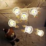 Battery Operated Elk Accessories 20 Leds Fairy String Lights LED Copper String Night Light for Christmas Festival Kids Bedroom, Indoor Decor