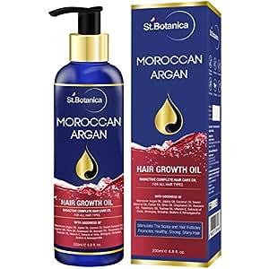 StBotanica Moroccan Argan Hair Growth Oil (With Pure Argan, Jojoba, Almond, Castor, Olive, Avocado, Rosemary Oils), 200ml