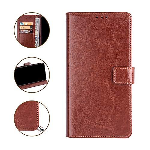 DAYNEW für Umidigi A3/Umidigi A3 Pro Hülle,Tasche Leder Flip Case Brieftasche Magnetisch Standfunktion Kartenfächern Handyhülle für Umidigi A3/Umidigi A3 Pro-Braun