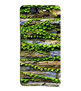 EPICCASE Bricks and leaves Mobile Back Case Cover For Micromax Canvas Knight A350 (Designer Case)