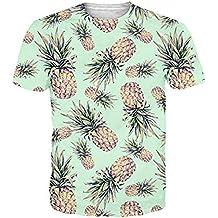 3ebc0e94e518e7 Funnycokid Unisex T Shirts 3D Drucken Kurzarm Sommer Männer Herren T-Shirt
