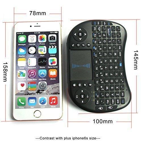 i8 Mini Teclado Inalámbrico con Touchpad Negro