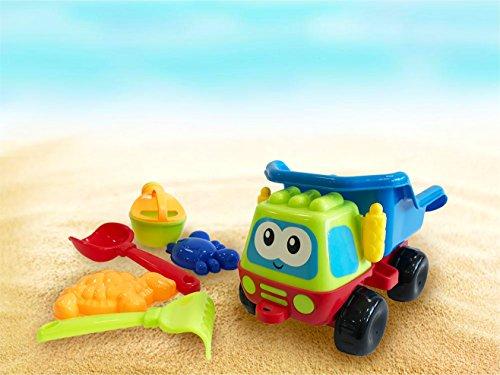 Sandkastenspielzeug Strandspielzeug Set Sandspielzeug Kipplaster Muldenkipper Eimergarnitur für Kinder / Jungen und Mädchen / Schaufel, Gießkanne, Sandformen wie Tiere Schildkröte, (Eimergarnitur Auto) …