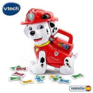 VTech- Marshall Letras al Rescate Disney Abecedario Interactivo de Patrulla Canina con Huesos en Forma de Galletas para Escuchar Palabras y más Datos interesantes (3480-190422)