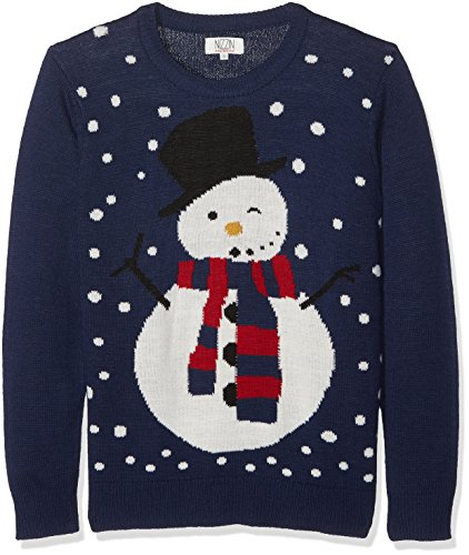 NIZZIN Unisex Weihnachtspullover Maples Blau (Blue 19-3933Tcx)