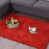 Teppich Wohnzimmer Schlafzimmer Tür Matte Nordic Home Erker quadratisch Couchtisch Bett Seite einfarbig Krabbeldecke (Farbe : 3, größe : 120 * 170cm)