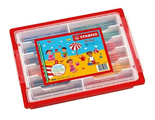 Schoolpack 96 pastelli stabilo trio