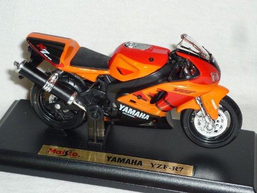 Yamaha Yzf-r7 Orange Enduro Mit Sockel 1/18 Maisto Modellmotorrad Modell Motorrad