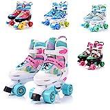 meteor® Retro Rollschuhe: Disco Roller Skate wie in den 80er Jahren, Jugend Rollschuhe, Kinder Quad Skate, 5 Verschiedene Farbvarianten, Einstellbare Größe des Schuhs