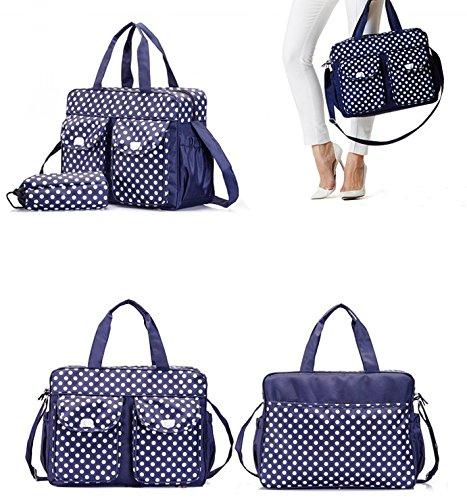 Baby Windel Tasche Wickeltasche - LOSORN ZPY Multifunktionale Pflegetasche Handtasche Pflegetasche Blau 1
