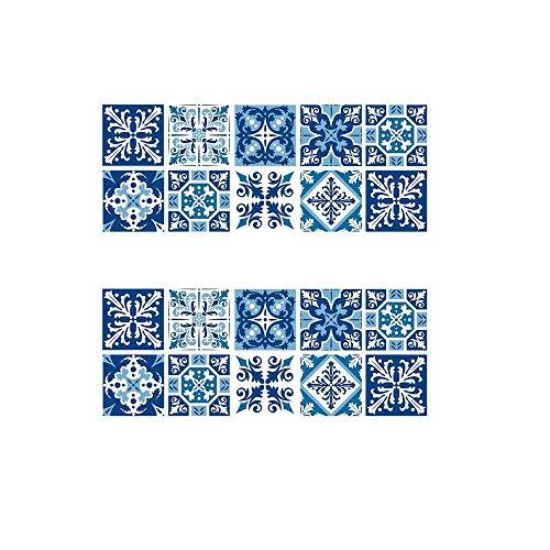 Inherited 20pcs Decorativos Adhesivos Azulejos Pegatina