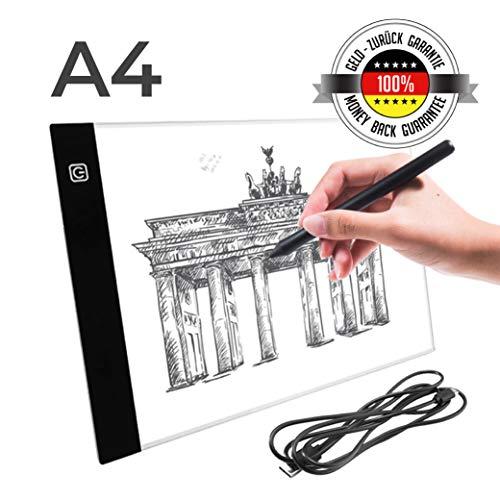 a Slim Leuchtkasten | Lightpad | Leuchttisch | Leuchtplatte zum Zeichnen | A4 | USB Kabel | Helligkeit verstellbar ()