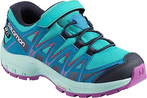 Salomon Enfant XA Pro 3D CSWP J Chaussures de Trail Running, Imperméable, Bleu (Bluebird/Fjord Blue/Purple Cactus Flower), Taille: 26