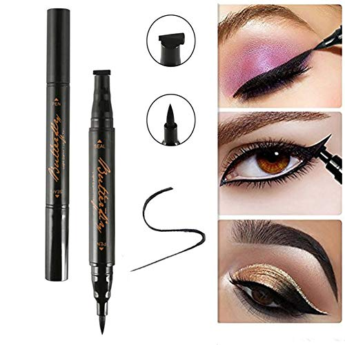 Naisicatar Winged Eyeliner Stamp Schwarz Wasserdicht Long Lasting Liquid Eyeliner Pen Augen Seal...