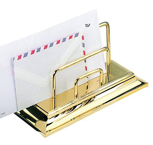 Soporte para correspondencia El Casco M672L, chapado en oro, para cartas y sobres
