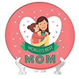 #8: YaYa cafe Mothers Day Gifts from Daughter Worlds Best Mom Decorative Plate, Home Decor Showpiece - 6 inches