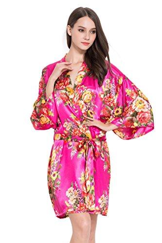 Fete Fabulous - Robe de chambre - Femme rose cerise