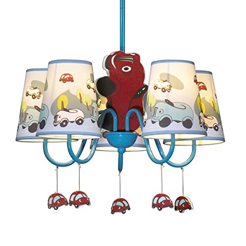 Jungen Cartoon Auto Schlafzimmer Kronleuchter Lampe Mediterraner Kid 's Room Anhänger Leuchten Kinder Pendelleuchte