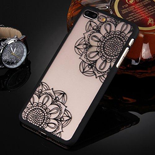 BING Für iPhone 7 Plus Prägung ausgehöhlte Blumenmuster Transparente Schutzmaßnahmen zurück Fall BING ( SKU : IP7P0078D ) IP7P0078A