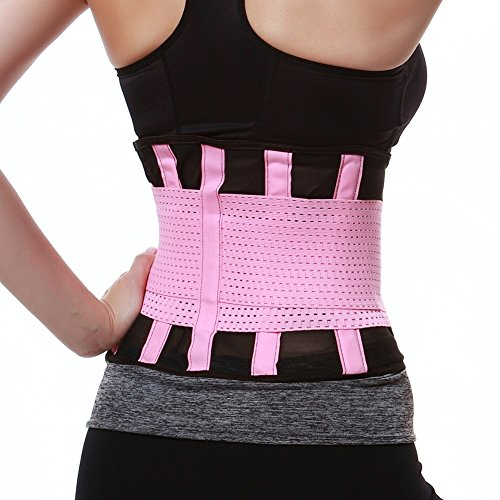 FeelinGirl Damen Waist Cinchr Traning Sport Belt Fitness Slimming Girdle Gurte Rosa