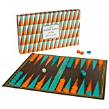 Ridley\'s Games Room   Backgammon Set   Orange & Turquoise Playing Pieces