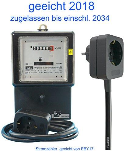 Wechselstromzähler Zwischenzähler 10/40 A. mit 1,5m Zuleitung (max. 16 Amp.) geeicht für Verrechnungszwecke zugelassen von EBY17 -