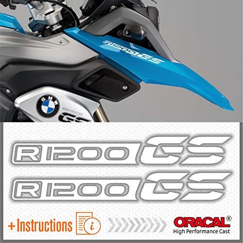 2pcs Adesivi compatibile con Moto R1200 GS BMW Motorrad R 1200 (Bianco)