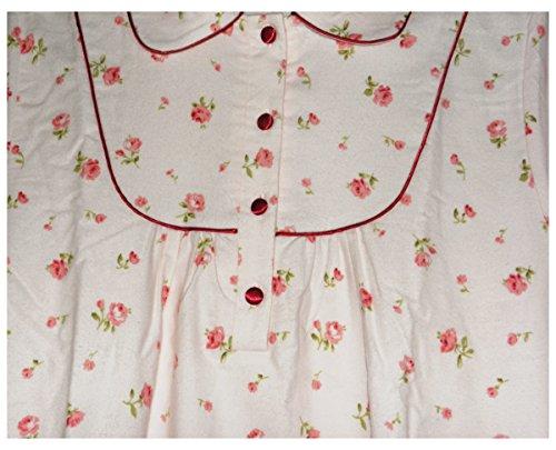 SLENDERELLA Longueur complète sexy à manches longues en coton brossé Rose