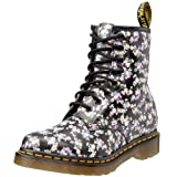 Dr. Martens 1460 Mini Tydee Flowers BLACK, Damen Combat Boots, Schwarz (Black), 43 EU (9 Damen UK)