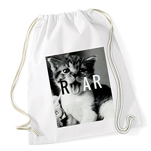 Pussy Roar Sac De Gym Blanc Certified Freak