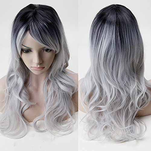 Hair Lang Full Head Perücken Gelockt Cosplay Kostüm Anime Perücke Party Halloween Fancy Kleid ()