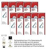 Nasenspray al 0,05% - 10er Sparset - inkl. einer pflegenden Handcreme o. Duschbad von Pharma Nature (Apotheken-Express)