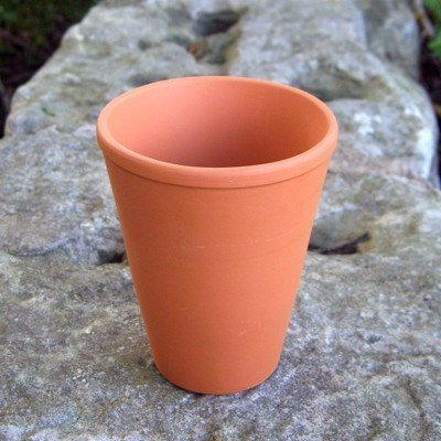 Terracotta Long Tom Plant Pots (Pack Of 10) 9 Cm Diameter