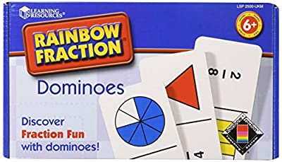 Learning Resources Rainbow Fraction Dominoes by Learning Resources