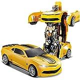 2.4G R/C Car Robot Electric Transformation Remote Control Children Kids Toys-Yellow