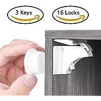 Babysicherheit Magnetisches Schrankschloss, unsichtbare Magnetschloss für Schrank und Schubladen, ohne Bohren und Schrauben, 10 Schlösser mit 2 Schlüssel