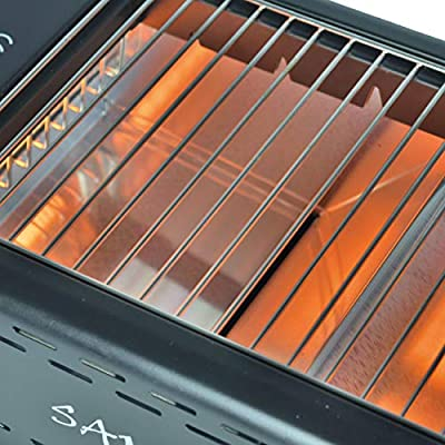 ACTIVA Grill Elektrogrill Tischgrill Samurai, Schwarz, 1,3 kW Infrarot, elektrischer Grill Indoor Outdoor