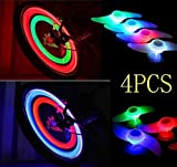 Agooding 4PCS Colorful Bike Spoke Lights, Bicycle Wheel Lights, Bicycle Accessories, 3 Light Mode Options, Waterproof, Used for Safety and Warning