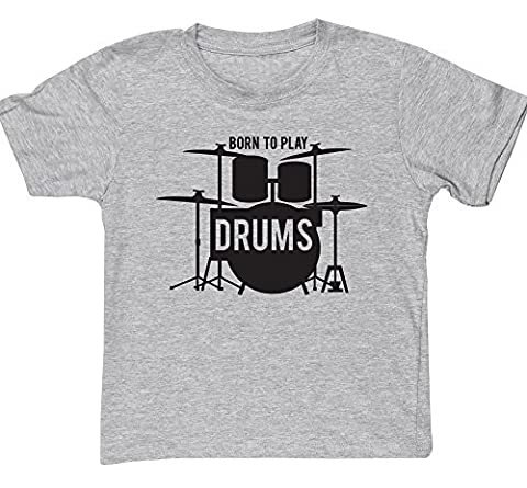 HippoWarehouse Born to Play Drums kids short sleeve t-shirt