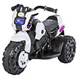 #4: Baybee Damned GS-800 Battery Operated Sports Bike | Single Motor Ride On Bike with 20 Kg Weight Capacity -- White