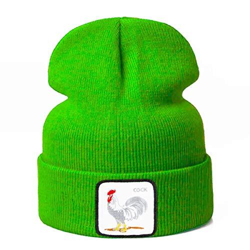 Winter Dong Unisex-Mütze Strickmütze mit warmem und buntem Animal-Print