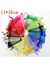 Generic Multi : Wholesale Organza Bag 11x16cm Jewelry Packaging Pouches Wedding Gift Bags Multi Colors 100pcs/lot