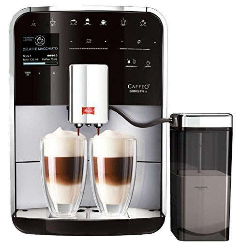 Melitta Barista TS F750-201, Bean to Cup Coffee Machine, Venturi, One Touch and Touch & Slide Functions, Milk Container Included, Silver/Black thumbnail
