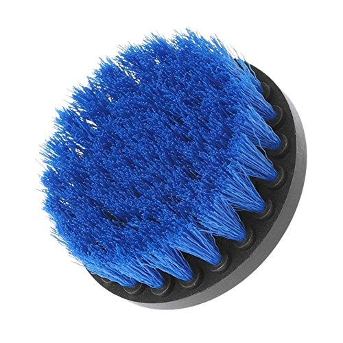 Devekop bohrmaschine Bürstenaufsatz - 4inch,Power Scrubbing Auto Bürste für Auto, Teppich, Badezimmer, Holzboden, Waschküche exc(Blau)