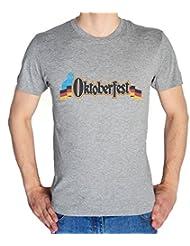 Oktober Fest Logo With Germany Flag Men's T-Shirt