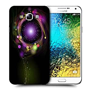 Snoogg Sparkling Circle Design Printed Protective Phone Back Case Cover ForSamsung Galaxy E7