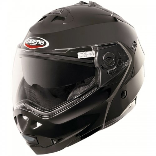 Caberg Klapphelm Duke Smart Schwarz Motorrad Helm, 30860091, Größe M (57/58 cm)
