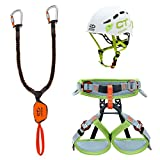 Climbing Technology Classic J Eclipse, Kit Ferrata Unisex Bambini, Assortiti, XXS