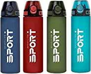 DIEB 750 ml Sport Water Bottles with Straw, BPA/BPS free Tritan,ECO friendly, Flip-Flop Lid, Cool Large with T