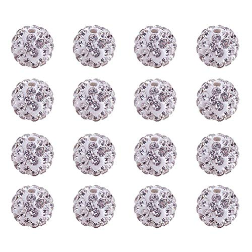 pandahall Elite 10 mm Light Siam Crystal Loose Spacer Pave Disco perlen